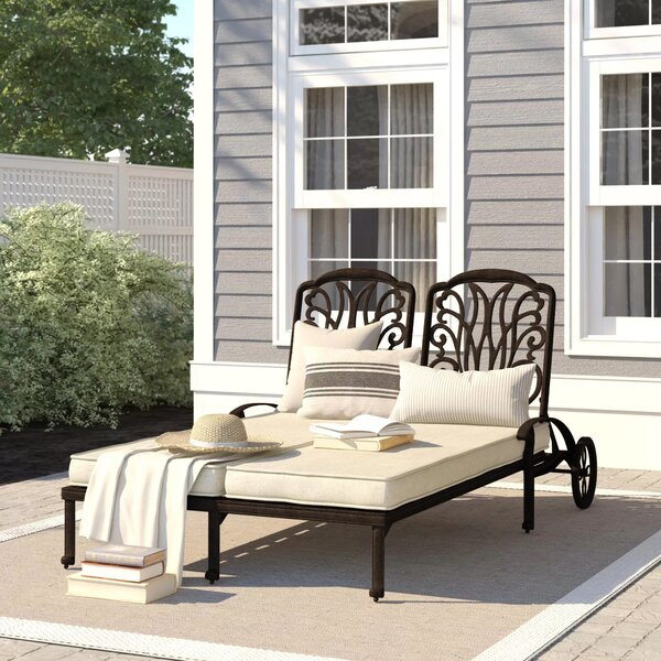 Lebanon Double Chaise Lounge with Cushion