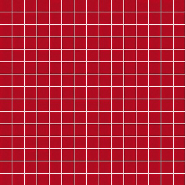 Opal 13 x 13 Glass Mosaic Tile in Red by Mosaic Loft