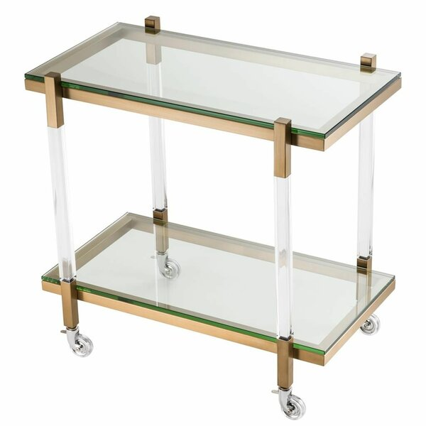 Glass Trolley Bar Cart by Eichholtz