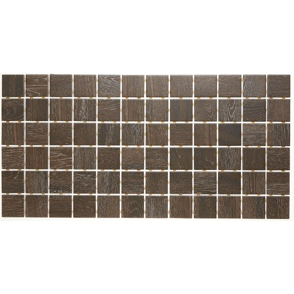 2 x 2 Ceramic Mosaic Tile in Brazilian Walnut by Itona Tile