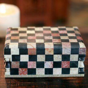 Comparison Marble Inlay Jewelry Box By Novica