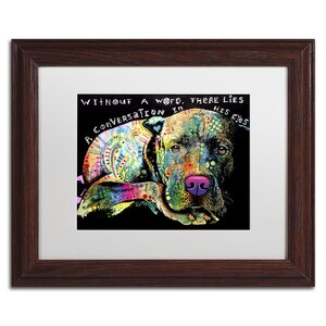 'Without a Word' by Dean Russo Framed Graphic Art by Trademark Fine Art