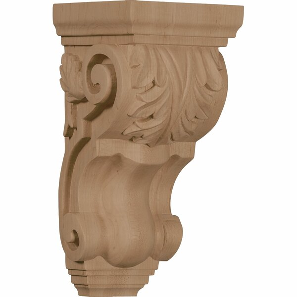 Acanthus 10H x 4 1/2W x 5D Medium Traditional Corbel in Mahogany by Ekena Millwork