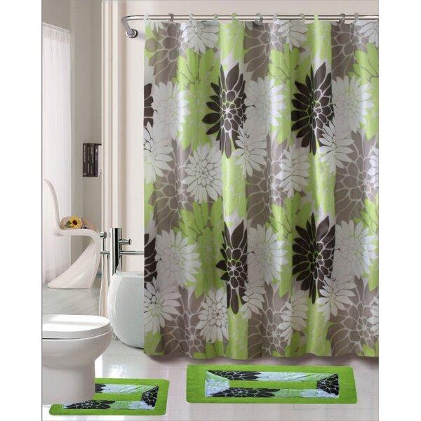 Erica 15 Piece Shower Curtain Set
