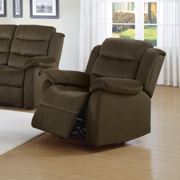 Gregson Trimmed Manual Glider Recliner [Red Barrel Studio]