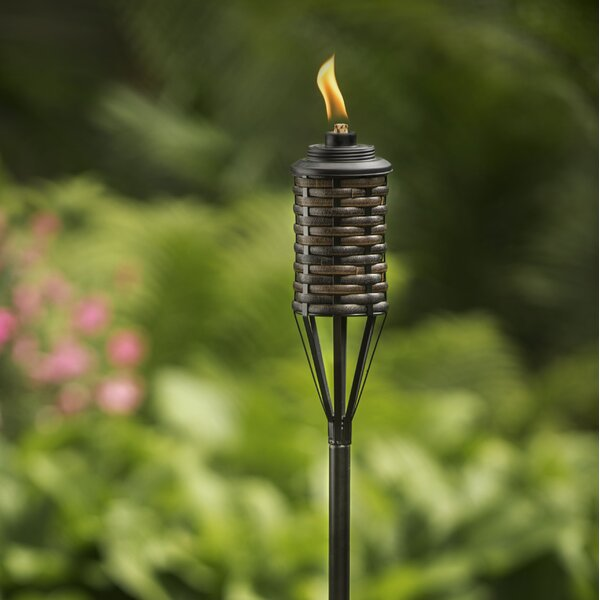 Bali Metal Garden Torch Set Of 2 By Tiki Brand.