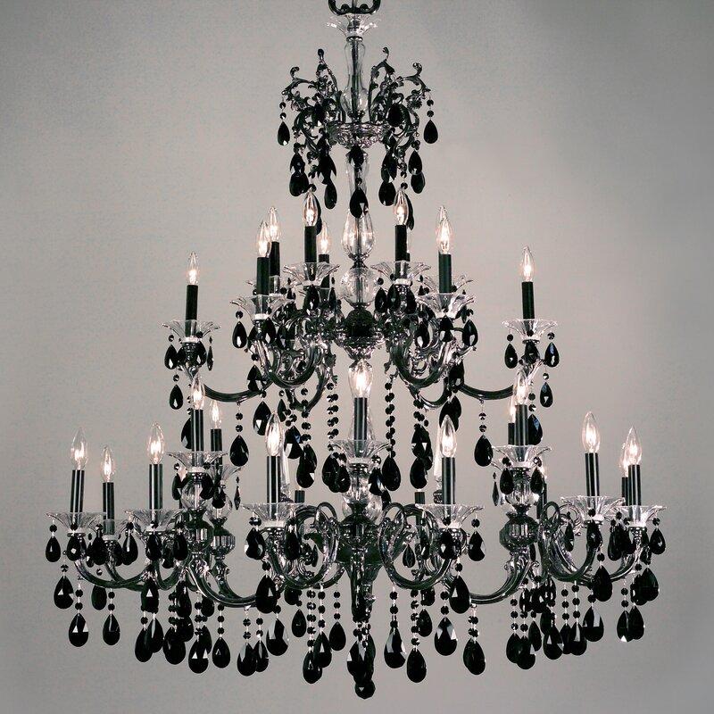 Classic lighting via lombardi 30 light crystal chandelier reviews via lombardi 30 light crystal chandelier aloadofball Images