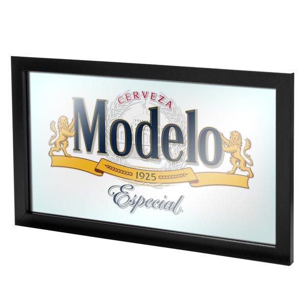 Modelo Framed Logo Accent Mirror by Trademark Global