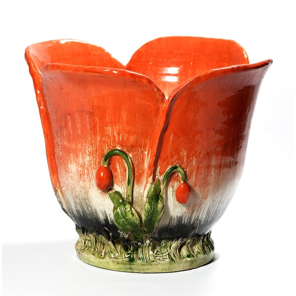 Fiore Poppie Ceramic Pot Planter by Intrada Italy