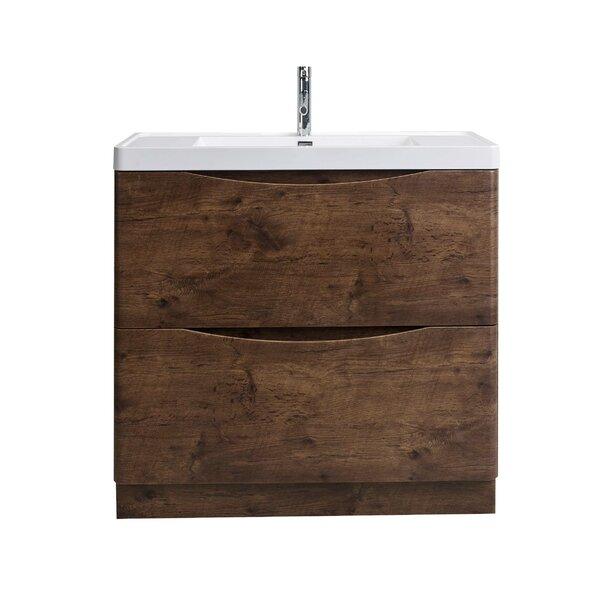 Hatter Rosewood Floor Mount 35 Single Bathroom Vanity Set by Orren Ellis