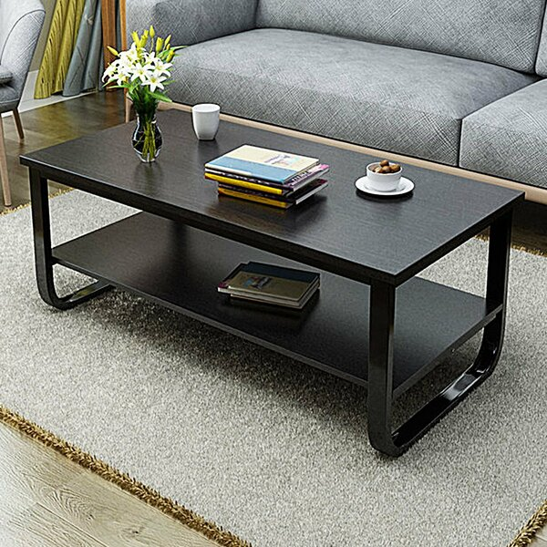 Horrell 2 Tier Polished Surface Multi Function Coffee Table by Wrought Studio