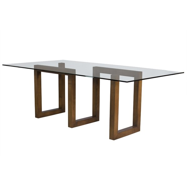 Reesa Glass Dining Table by Orren Ellis
