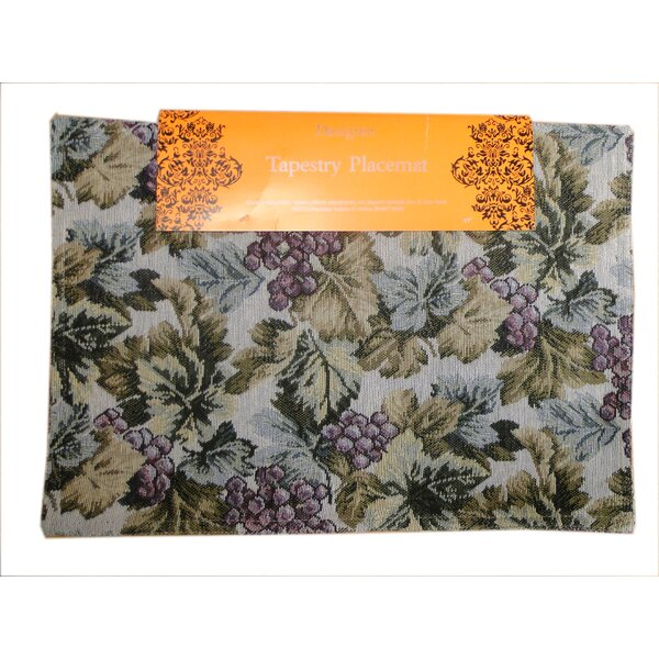 Tapestry Grape Placemat (Set of 4) by Textiles Plus Inc.
