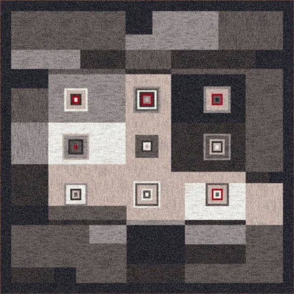 Pastiche Bloques Ebony Rug by Milliken