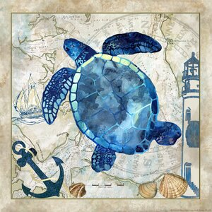 'Sea Turtle' Graphic Art on Wrapped Canvas by Buy Art For Less