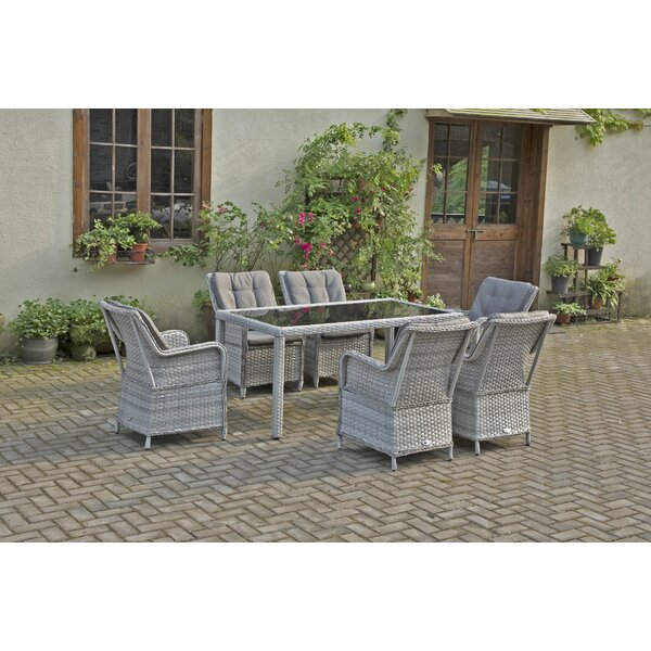 Cotswald 7 Piece Dining Set with Cushions