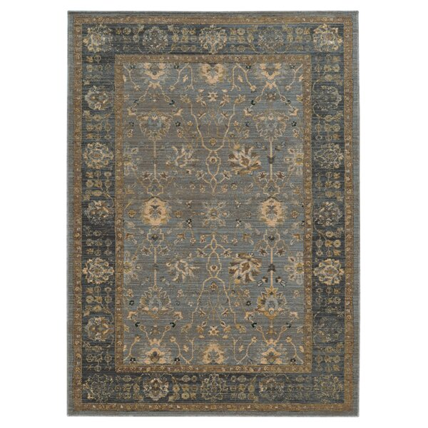 Vintage Handmade Wool Dark Blue/Brown Rug