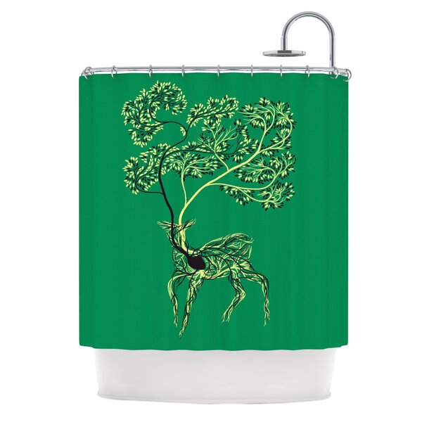 Nectar by Tobe Fonseca Deer Shower Curtain by East Urban Home