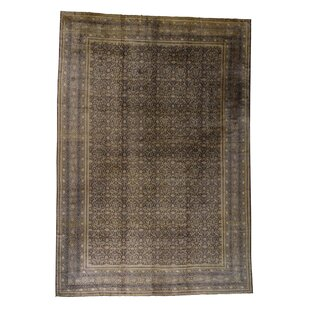 One-of-a-Kind Enyeart Fereghan Sarouk with Even Wear Hand-Knotted Brown Area Rug