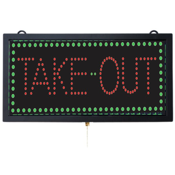 High Visibility LED Take Out Sign by AARCO