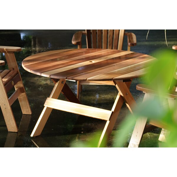 Macie Round Wooden Dining Table by Charlton Home
