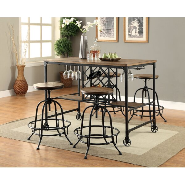 Colston Adjustable Height Swivel Bar Stool (Set of 2) by 17 Stories