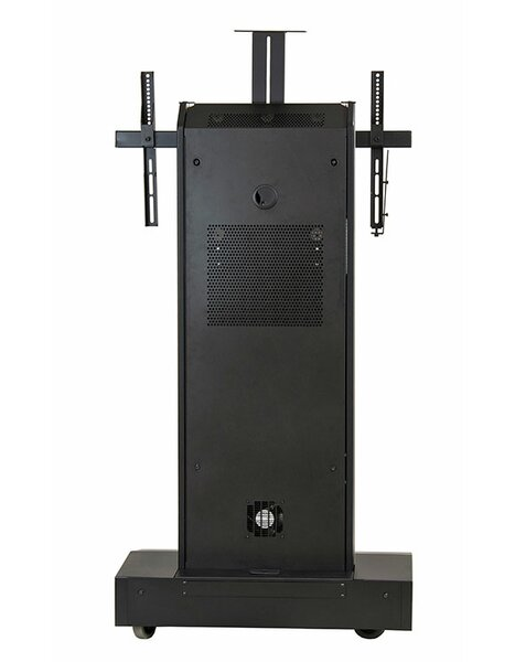 Moble Telepresence Stand with Single Monitor Mount for 40 -80 Displays by VFI
