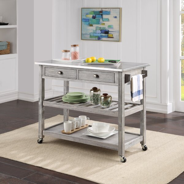 Trent Austin Design Weldona Kitchen Cart With Stainless