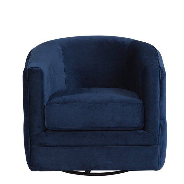 Hartlepool Swivel Barrel Chair by Everly Quinn