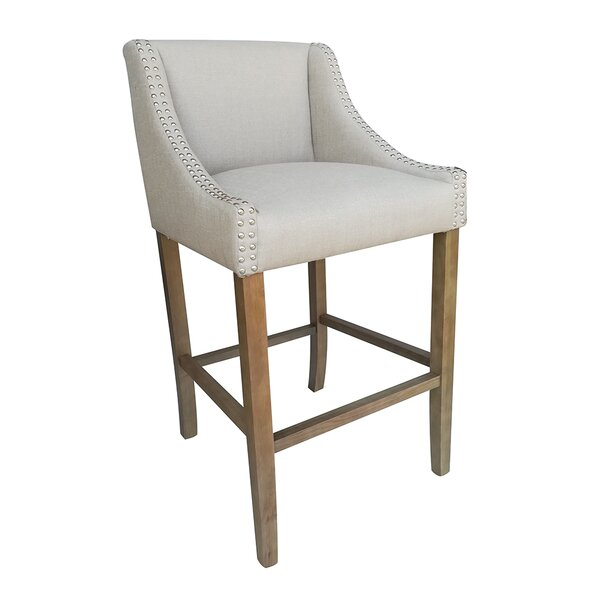 Neihart Contemporary Wood 29.5 Bar Stool by Opheli