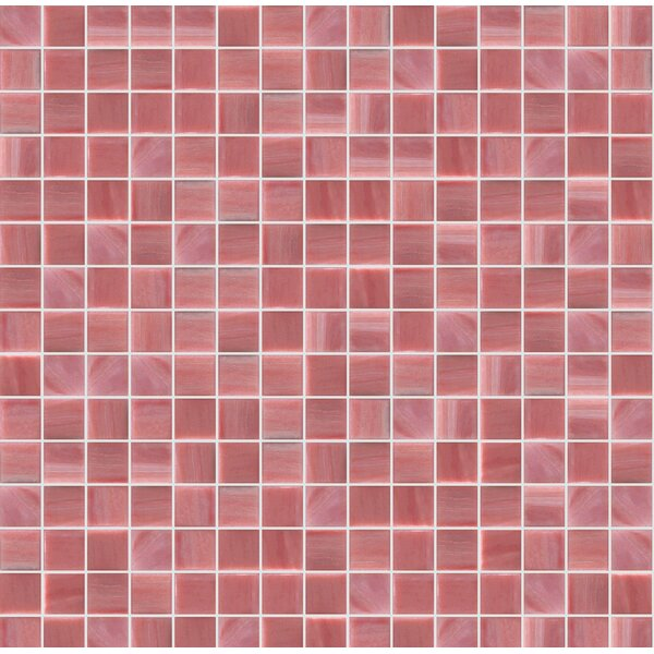 Jewel 13 x 13 Glass Mosaic Tile in Pink/Red by Mosaic Loft