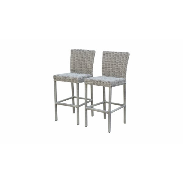 Claire 30-inch Patio Bar Stool (Set of 2) by Rosecliff Heights Rosecliff Heights