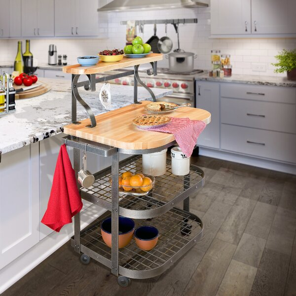 Premier Kitchen Cart with Butcher Block Top by Enclume