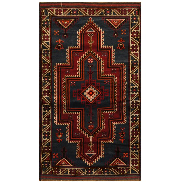 One-of-a-Kind Cruse Balouchi Hand-Knotted Wool Gray/Brown Area Rug by World Menagerie