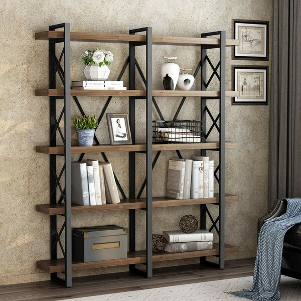 Hessler Solid Wood Wide Open Etagere Bookcase by Gracie Oaks