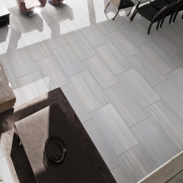 Watercolor Grigio 12 x 24 Porcelain Field Tile in Gray by MSI