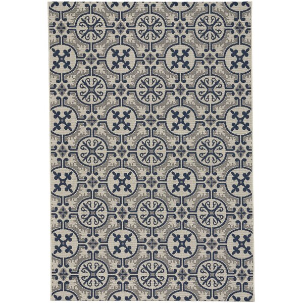 Bainsbury Tile Blue Indoor/Outdoor Area Rug by Three Posts