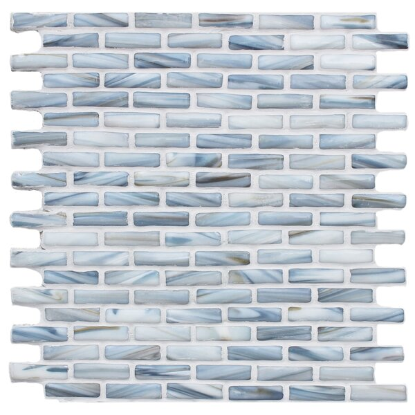 Kiln Sky 1 x 2 Glass Mosaic Tile in Blue by Tile Focus