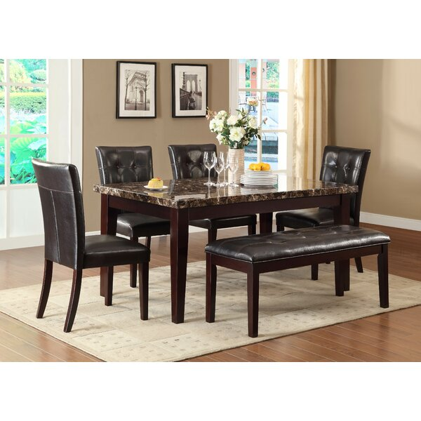 Meaux 6 Piece Solid Wood Dining Set by Red Barrel Studio