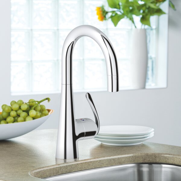 Ladylux3 Pull Down Touch Bar Faucet with SilkMove by GROHE GROHE