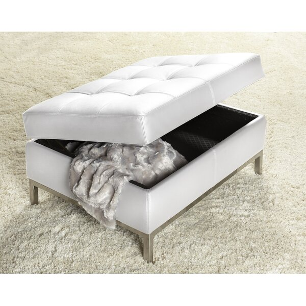 244 Series Leather Tufted Storage Ottoman by Lind Furniture