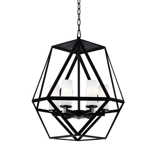 Overbey 6-Light Shaded Geometric Chandelier By Wrought Studio