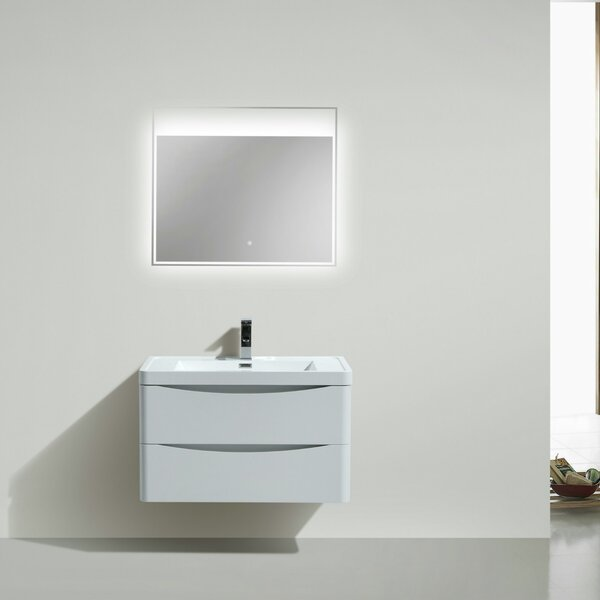 Ruelas 24 Wall-Mounted Single Bathroom Vanity Set by Wrought Studio