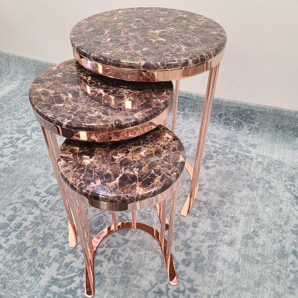 Giacinto Frame Nesting Tables by Everly Quinn Everly Quinn