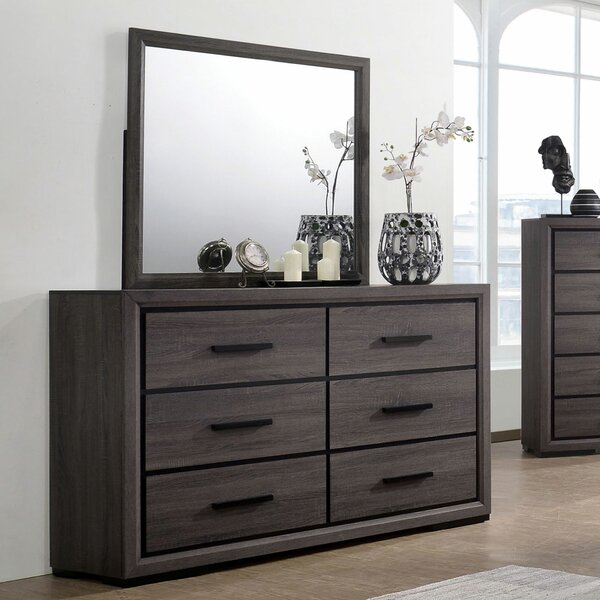 Chevelle 6 Drawer Double Dresser with Mirror by Brayden Studio
