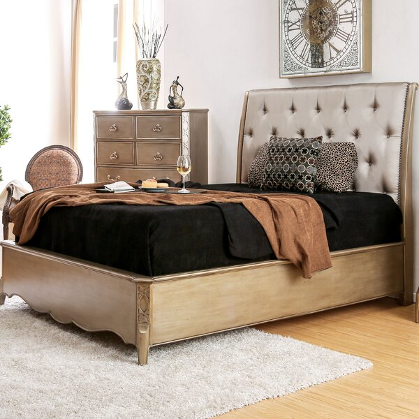 Gisella Upholstered Sleigh Bed by Willa Arlo Interiors