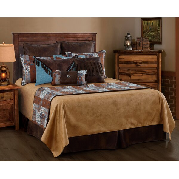 Sprowston Faux Leather Reversible Coverlet Set