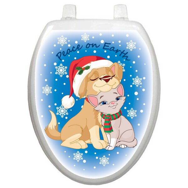 Holiday Peace On Earth Toilet Seat Decal by Toilet Tattoos