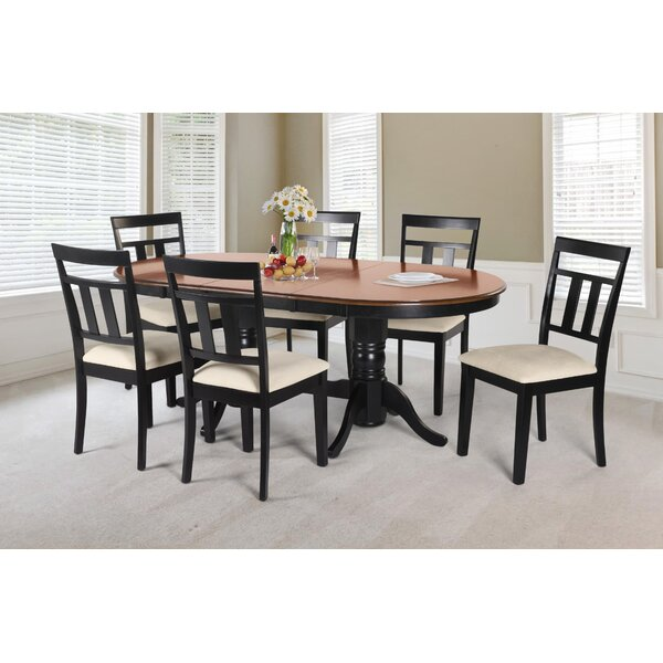 Dahlstrom 7 Piece Solid Wood Dining Set by August Grove