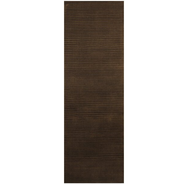 Hand-Tufted Dark Gray Area Rug by Herat Oriental